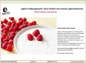 Joghurt Flyer