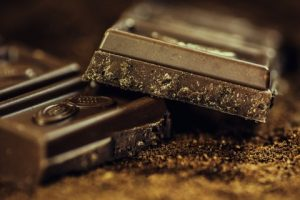 Dunkle Schokolade, die süße Versuchung