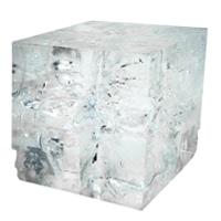 Eisklumpen
