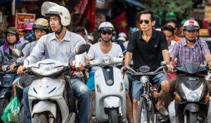 Mopeds in Vietnam, laut und nervig