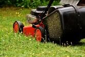 Rasenmähen im Sommer, besonders wichtig