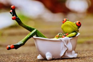 Badewanne Frosch