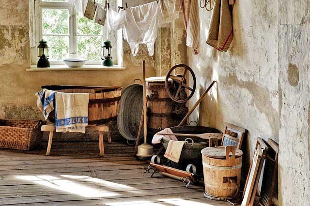 Waschküche, Waschen mit dem Hobbythek Waschmittel-Baukasten