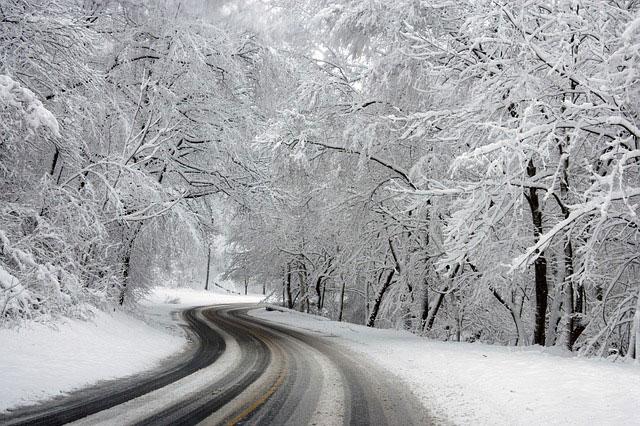 Winter Schnee Straße