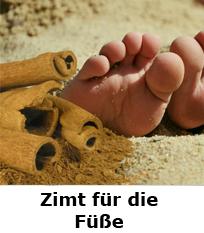 Zimt für die Füße