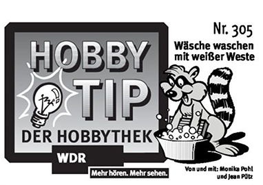 Hobbytipp 305, Waschen mit dem Hobbythek Waschmittel-Baukasten